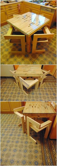 This DIY pallet kitchen furniture idea is best option for your kitchen embellishment. If your kitchen corner is not equipped with the enough space in the house and still you want your grab the entertainment of the kitchen table then this pallet project is the ultimate best idea. You can easily create it by using old wooden pallet.