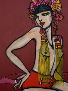 'Jade'. Giclée Konsttryck av Amanda Mendiant - Arte Limited