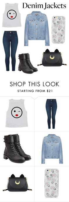 """""""😘"""" by triiny ❤ liked on Polyvore featuring J Brand, Philosophy di Lorenzo Serafini, AG Adriano Goldschmied, Usagi, denimjackets and WardrobeStaples"""