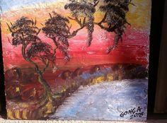 Pintura Paisagem med- 50cm x 50cm.