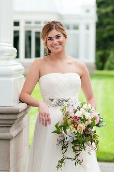 beautiful cascading bouquet // Lauren Rutten Photography: laurenruttenphoto.com