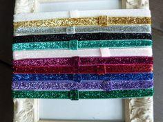 Plain Headband - Glitter Elastic Headbands by HairAccessoriesByMeg, $12.00