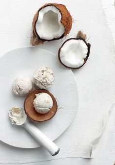 Coconut-and-Banana Ice Cream - Want glowing skin? Coconut contains vitamins C and E, which helps repair skin cells and prevent free-radical damage.