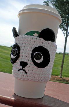 Panda Coffee Cozy Crochet Pattern