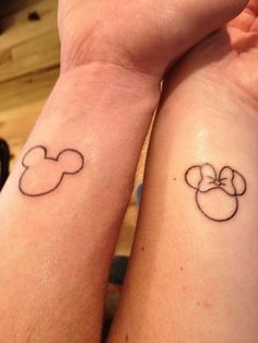 100 Magical Disney Tattoos...I'm not a fan of his and hers tattoos but this is cute