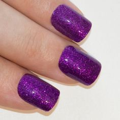 Bling Art False Nails French Manicure Purple Gel Glitter Medium 24 Tips UK >>> For more information, visit image link.