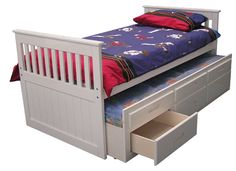 KS Mission Captains Bed white - Aaron's new bed