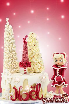 Lady Christmas  Cake by ChokoLate