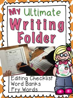 Get your folders ready this summer! This Writing Folder encourages independent writing and promotes student accountability! Must have resource for each student in the beginning of the year.