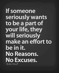 No reasons. No excuses.