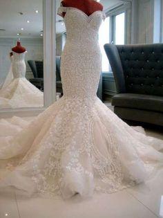 VN384 – Desejado Internacional – Todo bordado em Pérolas MARAVILHOSO | Noiva Importada