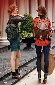 Stylish backpacks.