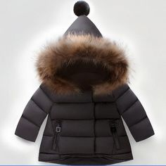 Amaping Kids Baby Girls Drawstring Bear Ear Hooded Coat Wadded Jacket Thick Outwear Warm Clothes