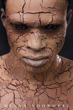Caliban  African warrior - this is not ceramic! But it looks like the effect I was getting with a technique I was using. So for inspiration I'm putting it here.