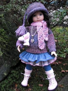 """~PINK & DENIM FLIRT! by Tuula fits 13"""" Effner Little Darling to a """"t""""!"""