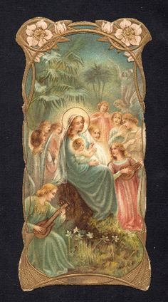 Pope Pius Ix, Spiritus, Blessed Virgin Mary, Prayer Cards, Blessed Mother, Mother Mary, Religious Art, Christmas Angels, Madonna