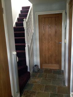 oyster slate hallway #sdbtilingltd
