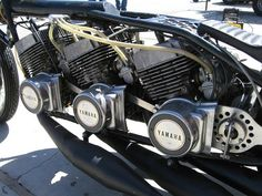Yamaha Drag Racer | Motorcycle drag racing | Drag Bike | Drag race | Yamaha Racing | Pat Miller's triple-engine Yamaha http://www.way2speed.com/2013/06/yamaha-drag-racer.html  LIKE & SHARE http://www.facebook.com/way2speed Yamaha Drag Racer - Grease n Gasoline