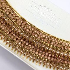 Antique Gold Polki Payal on its way to Switzerland! Also available in Gold Silver