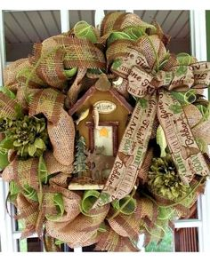 Cabin on the lake Wreath| CraftOutlet.com Photo Contest