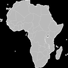 Another similar but sleeker looking free printable political map of     Blank Political Map of Africa with countries outlined