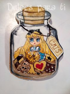 Galleta pintada a mano Alicia en el país de las galletitas