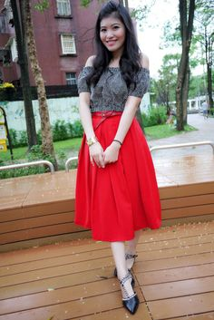 red skirt. a must.