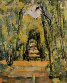 Tree Lined Lane at Chantilly.1898.by Paul Cezanne