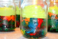 Rainbow Cake in a Jar for the next Birthday-Party