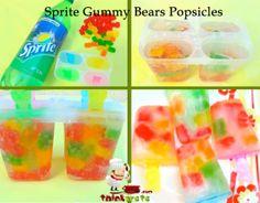 sprite gummy bear popsicles