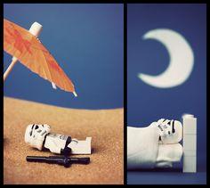 Entre Tatooine et la caserne, la vie est belle pour un Stormtropper - Artist : Balakov  http://www.flickr.com/photos/balakov/