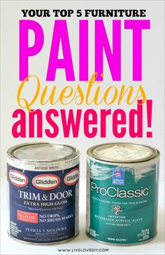 What paint for furniture and why= GREAT!!!!!!!!