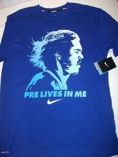 Nike PRE LIVES IN ME Steve Prefontaine Oregon Dri-Fit MENS Running Shirt SIZE M | eBay Have to get this!