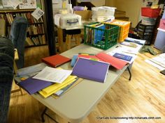 purge in process- thankfully I have a folding table to pull out & work on