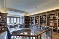 Like the home in Water Mill, this castle-esque piece of Atlanta real estate also has a two-story library. The room features wall-to-wall built-in bookshelves and a window seat perfect for snuggling up with a favorite novel. The custom-built home has been on and off the market for the past year and recently had another price cut to the tune of $500,000. Median Atlanta home values are currently $121,000. Atlanta, GA