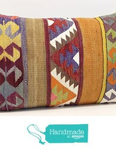 Anatolian kilim pillow cover 16x24 inch (40x60 cm) Decorative Lumbar Kilim pillow cover Garden Decor Ethnic Pillow cover Kilim Cushion Cover from Kilimwarehouse https://www.amazon.com/dp/B06XSHFCR6/ref=hnd_sw_r_pi_dp_bN80ybVXPY0J2 #handmadeatamazon