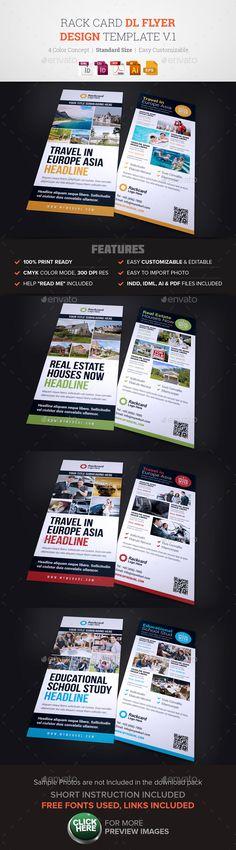 Rack Card DL Flyer Design v1  EPS Template • Download ➝ https://graphicriver.net/item/rack-card-dl-flyer-design-v1/17122885?ref=pxcr