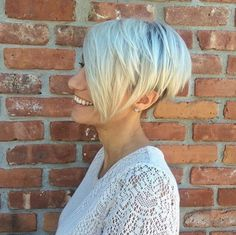 .Terrified of the undercut, but I love the way the top layers lay over it! Bangs are a great length also; I'm going to have to consider this!