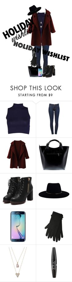 """""""Holiday Wishlist"""" by katiecutie31 on Polyvore featuring Frame Denim, Massimo Castelli, Zimmermann, Samsung, M&Co, Panacea, NYX and NARS Cosmetics"""