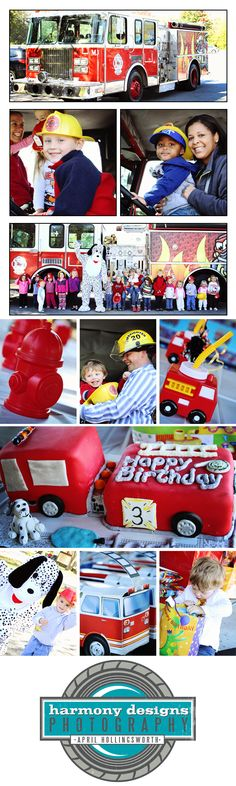 Fireman Kids Party!  So much fun! Harmony Designs Photography. Children's Party Photography