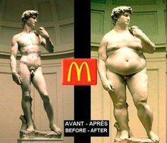Before and after McDonalds
