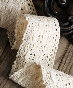 Crocheted Cotton Lace Ribbon