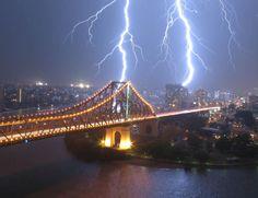 Storm over Brisbane, Australia