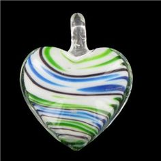 Bead Treasures Puffed Heart Glass Pendant | Shop Hobby Lobby