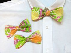 Bow ties available in adult and boys size.
