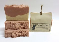 Chloe's Roses  French Rose Clay Vegan  Artisan Hot Process Soap by FionaMarieBK on Etsy