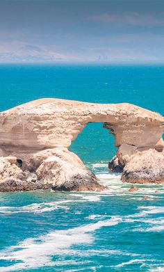 Monument Natural La Portada is a fossil-rich coastal park with features La Portada arch #Chile