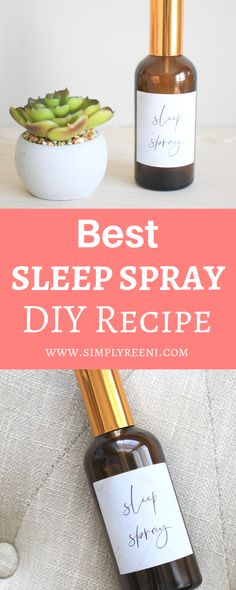Best Sleep Spray DIY Recipe <br> Simply living your best life naturally. Essential Oils For Pain, Essential Oil Spray, Essential Oil Blends, Lavender Sleep Spray, Linen Spray, Healthy Lifestyle, Witch Hazel, Stress Relief, Pain Relief