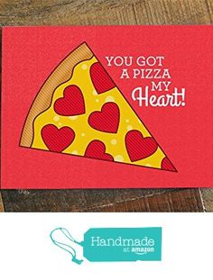 Pizza Love Card - Pizza pun card, pizza my heart, pizza greeting card, anniversary card, romantic card, valentines day card, funny pun card from Tiny Bee Cards https://www.amazon.com/dp/B019ZEYQ4W/ref=hnd_sw_r_pi_dp_a.9Lxb50GMANG #handmadeatamazon