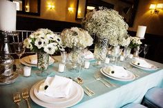 Aqua Flowers and Tablescapes | Elizabeth Anne Designs: The Wedding Blog